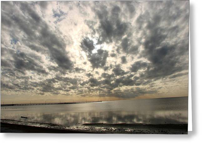 Greeting Card featuring the photograph Stunning Coastal Sunrise by Linda Cox