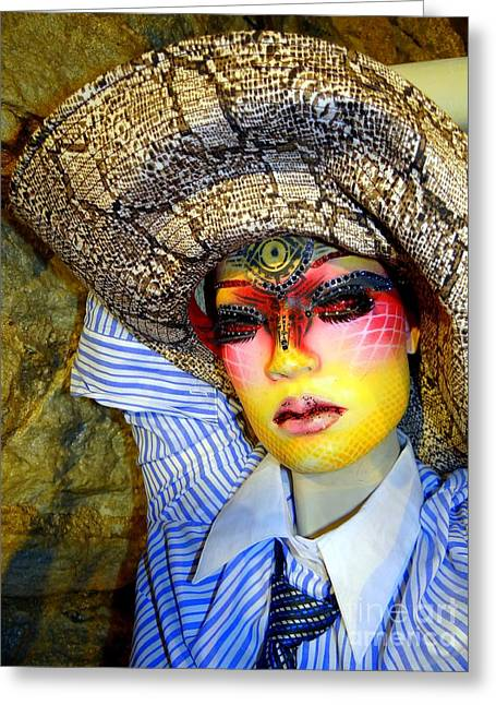 Stunning In Snakeskin Greeting Card by Ed Weidman