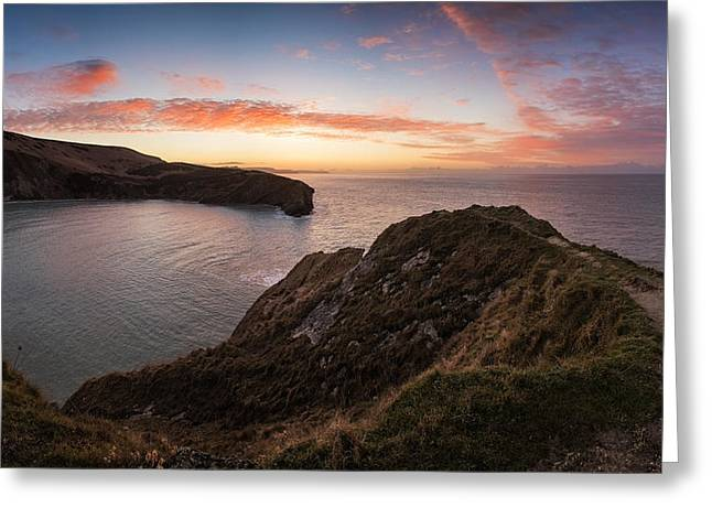 Stunning Sunrise Over Ocean Landscape Greeting Card by Matthew Gibson