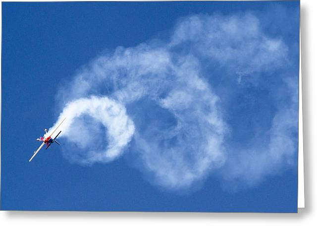 Stunt Plane Corkscrew Greeting Card