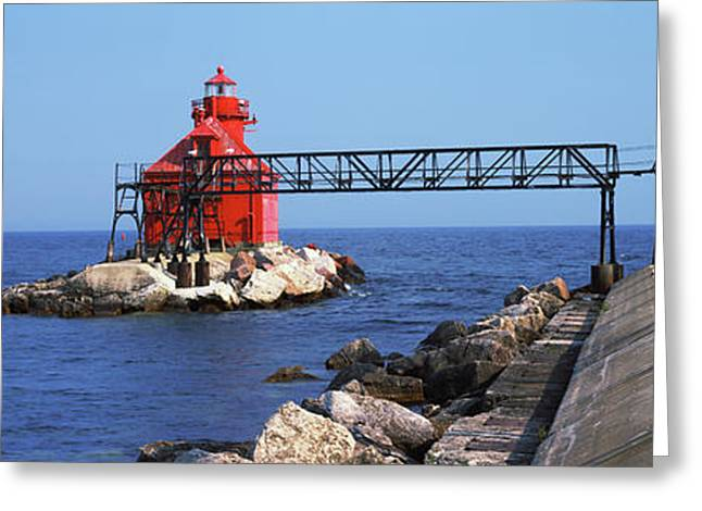 Sturgeon Bay Canal North Pierhead Greeting Card