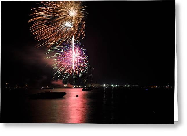 Sturgeon Bay Fireworks Greeting Card