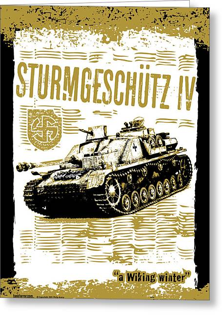 Sturmgeschutz Iv Greeting Card by Philip Arena