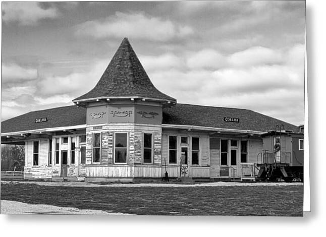 Greeting Card featuring the photograph Sturtevant Old Hiawatha Depot In Hdr by Ricky L Jones