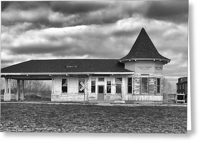 Greeting Card featuring the photograph Sturtevant Old Hiawatha Depot by Ricky L Jones