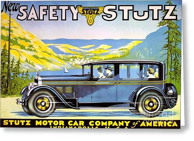Stutz Motor Car Poster Greeting Card by Roberto Prusso