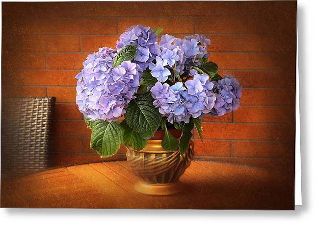 Stylish Hydrangea Greeting Card