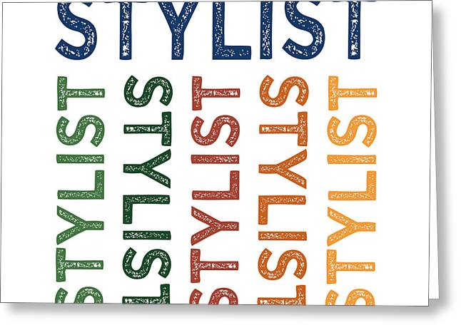 Stylist Cute Colorful Greeting Card