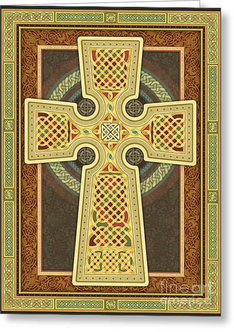 Stylized Celtic Cross Greeting Card