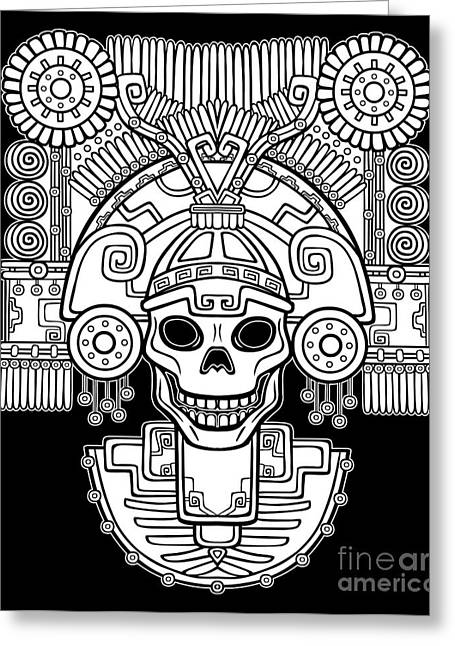 Stylized Skull. Pagan God Of Death Greeting Card
