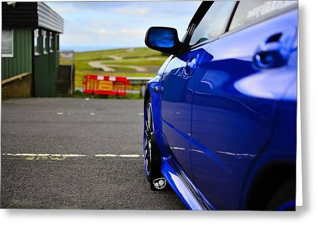 Subaru Pitstop Greeting Card by Phil Kellett