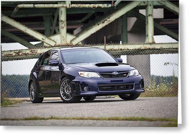 Subaru Wrx Sti Greeting Card by Eric Gendron