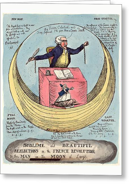 Sublime And Beautiful Reflections On The French Revolution Greeting Card by English School