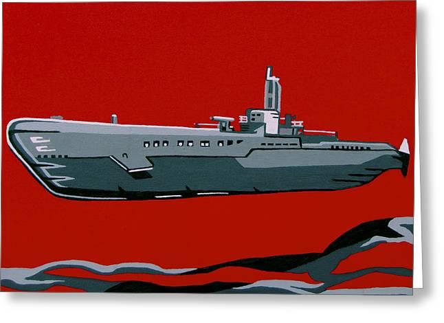 Submarine Sandwhich Greeting Card by Slade Roberts