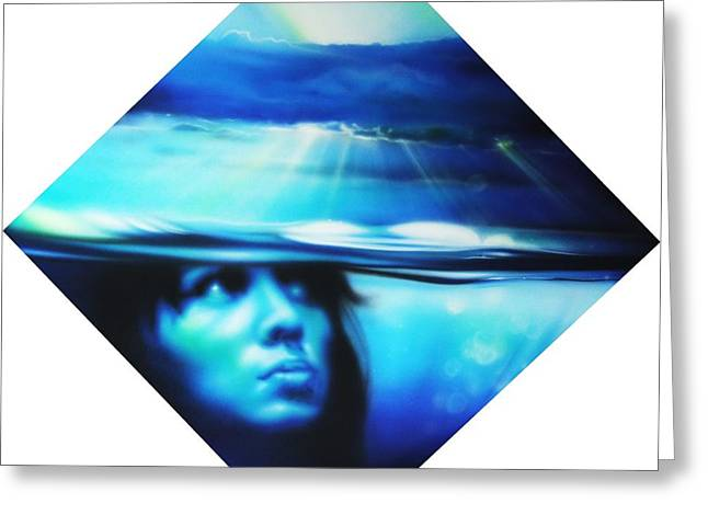 Portrait - ' Submersion ' Greeting Card