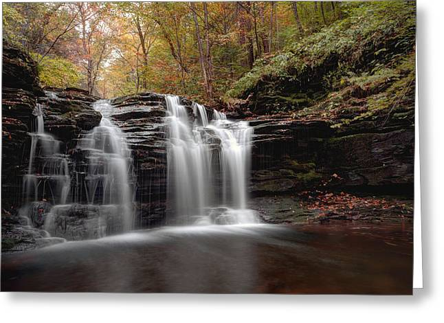 Subtle Fall Hues At Wyandot Falls Greeting Card