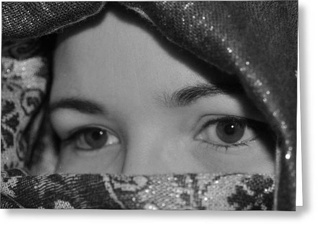 Subtle Gaze Greeting Card by Michelle McPhillips