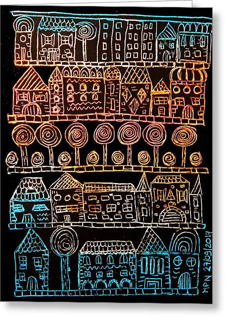 Suburbia Greeting Card by Mimulux patricia no No