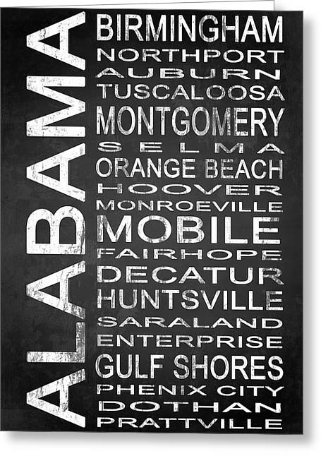 Subway Alabama State 1 Greeting Card by Melissa Smith