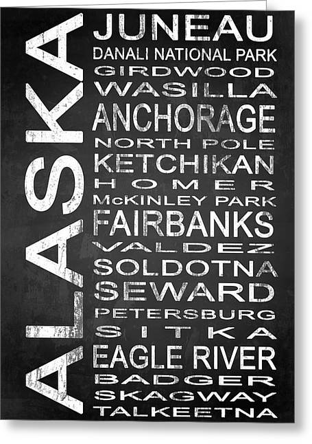 Subway Alaska State 1 Greeting Card by Melissa Smith