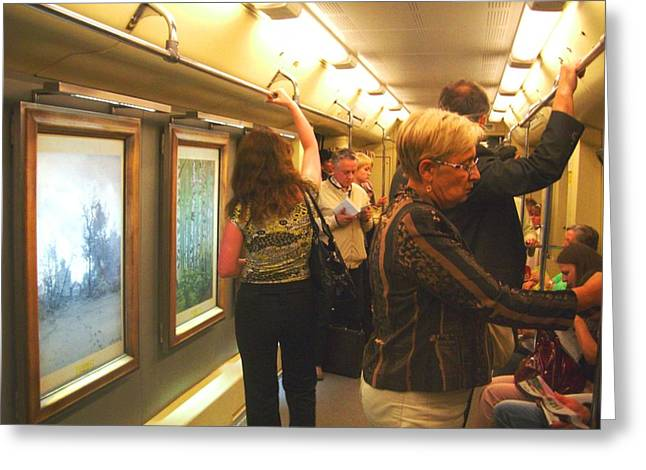 Greeting Card featuring the photograph Subway Art by Julia Ivanovna Willhite
