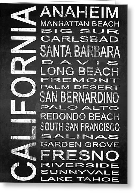 Subway California State 4 Greeting Card by Melissa Smith