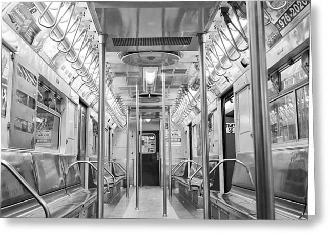New York City - Subway Car Greeting Card