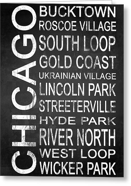 Subway Chicago 2 Greeting Card by Melissa Smith