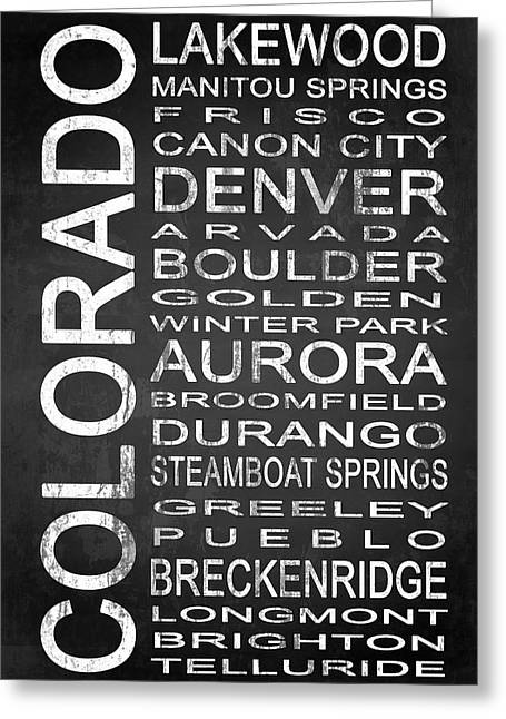 Subway Colorado State 1 Greeting Card by Melissa Smith