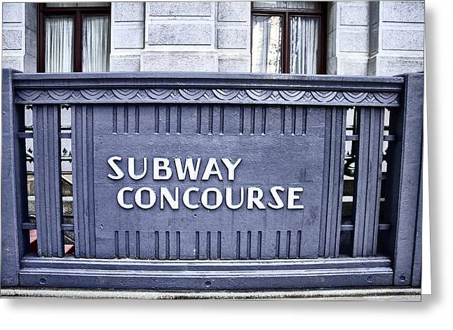 Subway Concourse At City Hall Greeting Card by Bill Cannon