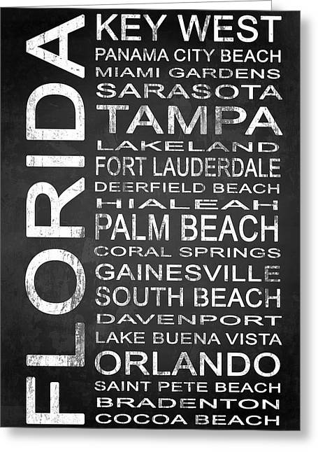 Subway Florida State 3 Greeting Card