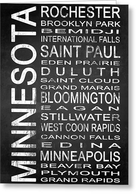Subway Minnesota State 1 Greeting Card by Melissa Smith