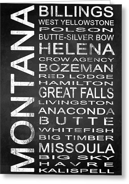 Subway Montana State 1 Greeting Card