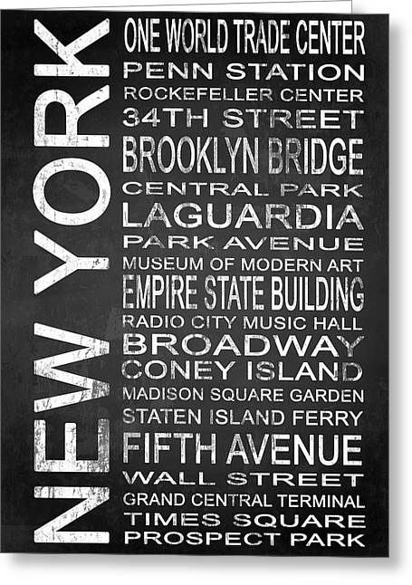 Subway New York 3 Greeting Card by Melissa Smith
