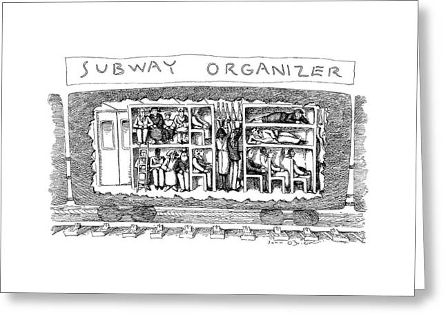 Subway Organizer Greeting Card