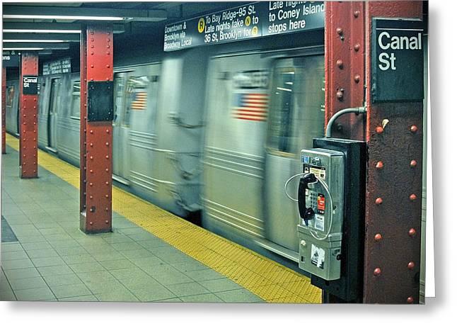 Subway Greeting Card by Paul Van Baardwijk