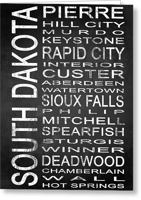 Subway South Dakota State 1 Greeting Card by Melissa Smith