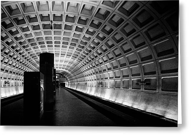 Subway Station Greeting Card by Celso Diniz
