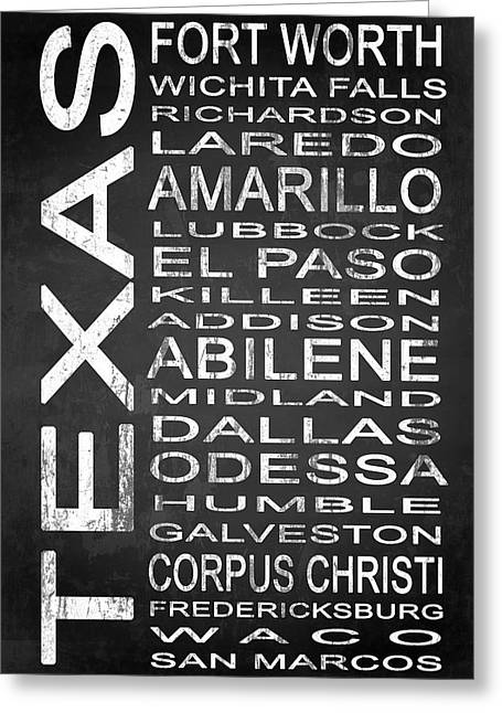 Subway Texas State 2 Greeting Card by Melissa Smith