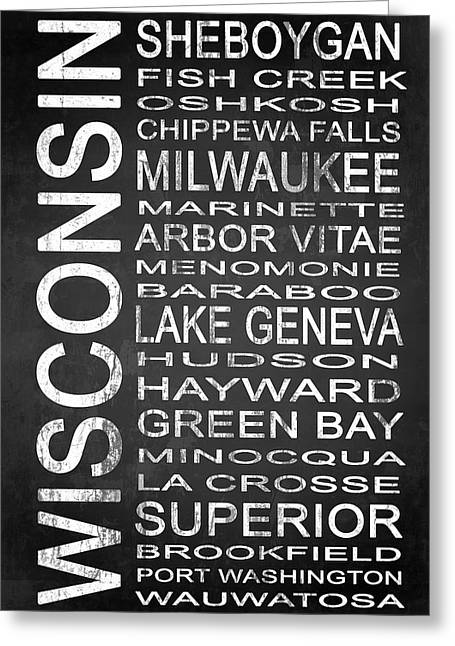 Subway Wisconsin State 2 Greeting Card