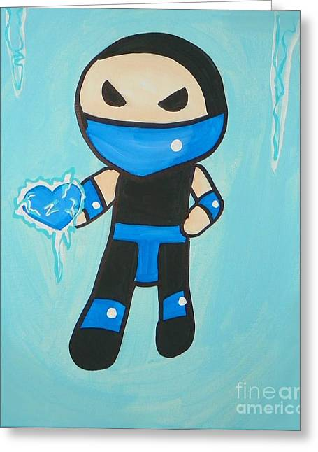 Subzero Frozen Heart Greeting Card