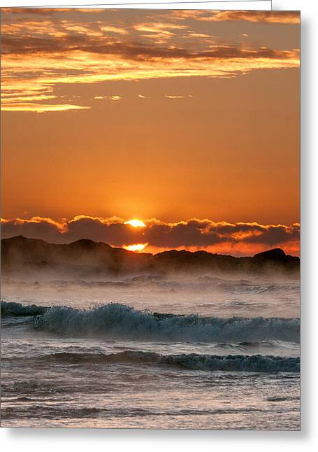 Subzero Sunrise Greeting Card