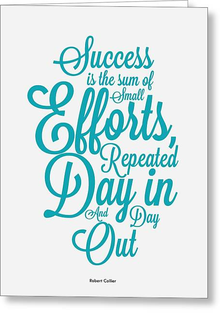 Success Inspirational Quotes Poster Greeting Card