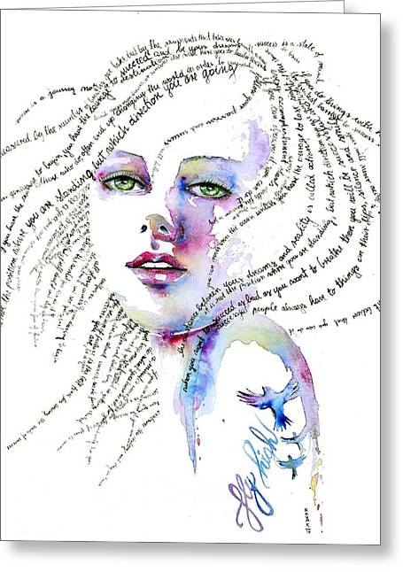Success Is A State Of Mind Greeting Card by Dreja Novak