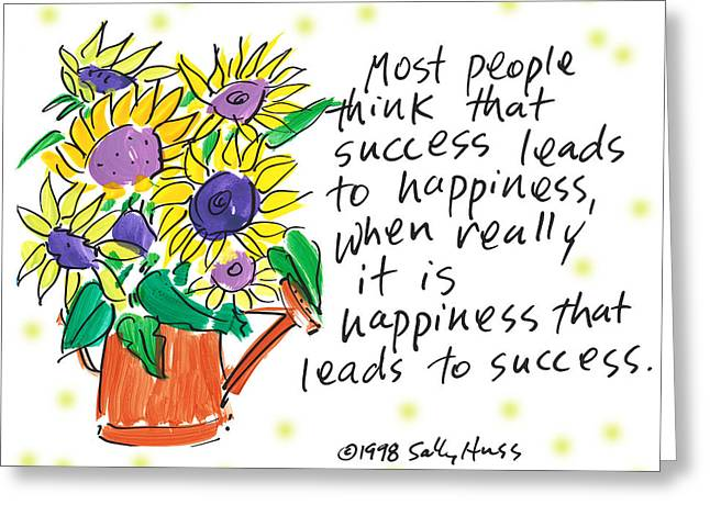 Success Greeting Card by Sally Huss