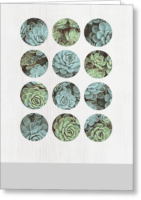 Succulent Dots Greeting Card by Tammy Apple