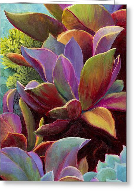Succulent Jewels Greeting Card