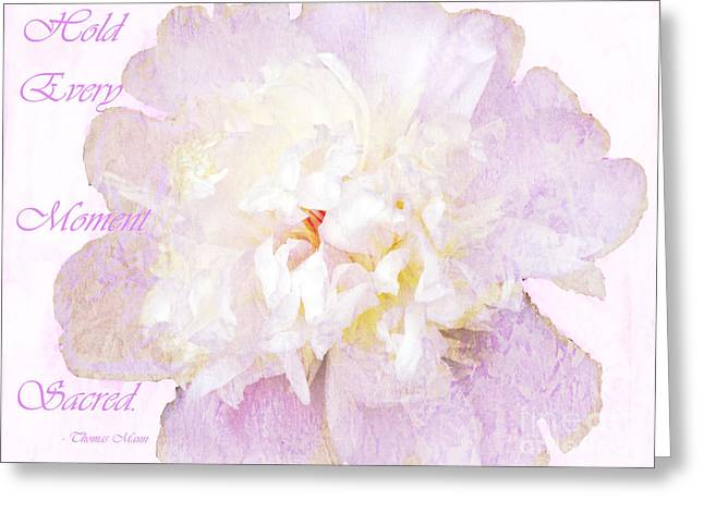Such A Pretty Peony - Inspirational Quote Greeting Card