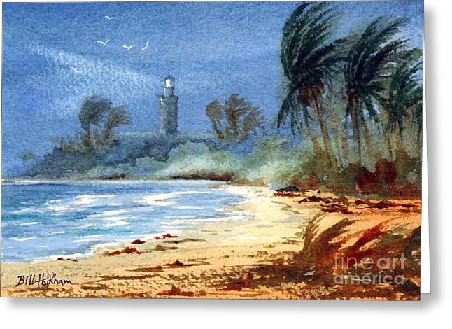 Sudden Storm Faro De Punta Tuna Greeting Card