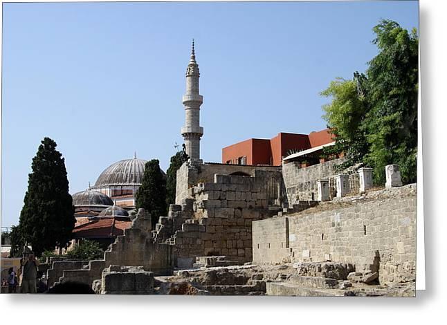 Sueleyman Pascha Mosque - Rhodos City Greeting Card